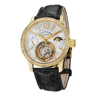 Stuhrling Original Men's Diamond Imperium Mechanical Tourbillon Watch