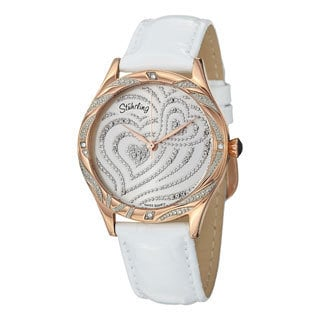 Stuhrling Original Women's Aphrodite Elegante Quartz Leather Strap Watch