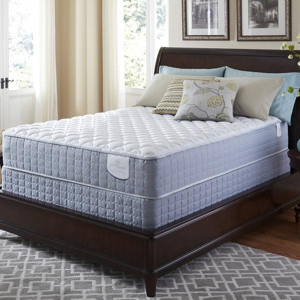 Serta Perfect Sleeper Luminous Cushion Firm Split Queen-size Mattress and Foundation Set