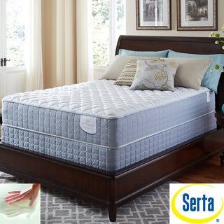 Serta Perfect Sleeper Luminous Cushion Firm Split Queen-size Mattress and Foundation Set