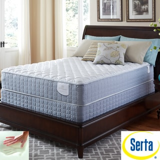 Serta Perfect Sleeper Luminous Cushion Firm King-size Mattress and Foundation Set