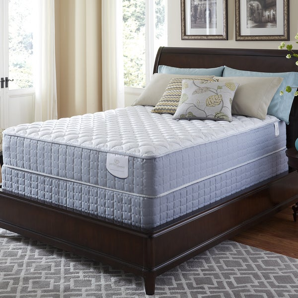 Serta Perfect Sleeper Luminous Cushion Firm California King Mattress and Foundation Set