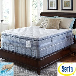 Serta Perfect Sleeper Elite Pleasant Night Super Pillowtop Cal King-size Mattress and Foundation Set