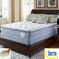 Serta Perfect Sleeper Luminous Super Pillowtop Twin XL-size Mattress and Foundation Set