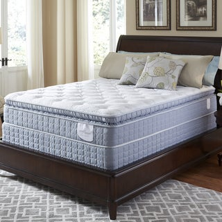 Serta Perfect Sleeper Luminous Super Pillowtop Split Queen-size Mattress and Foundation Set