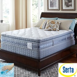 Serta Perfect Sleeper Resolution Luxury Super Pillowtop Twin XL-size Mattress and Foundation Set