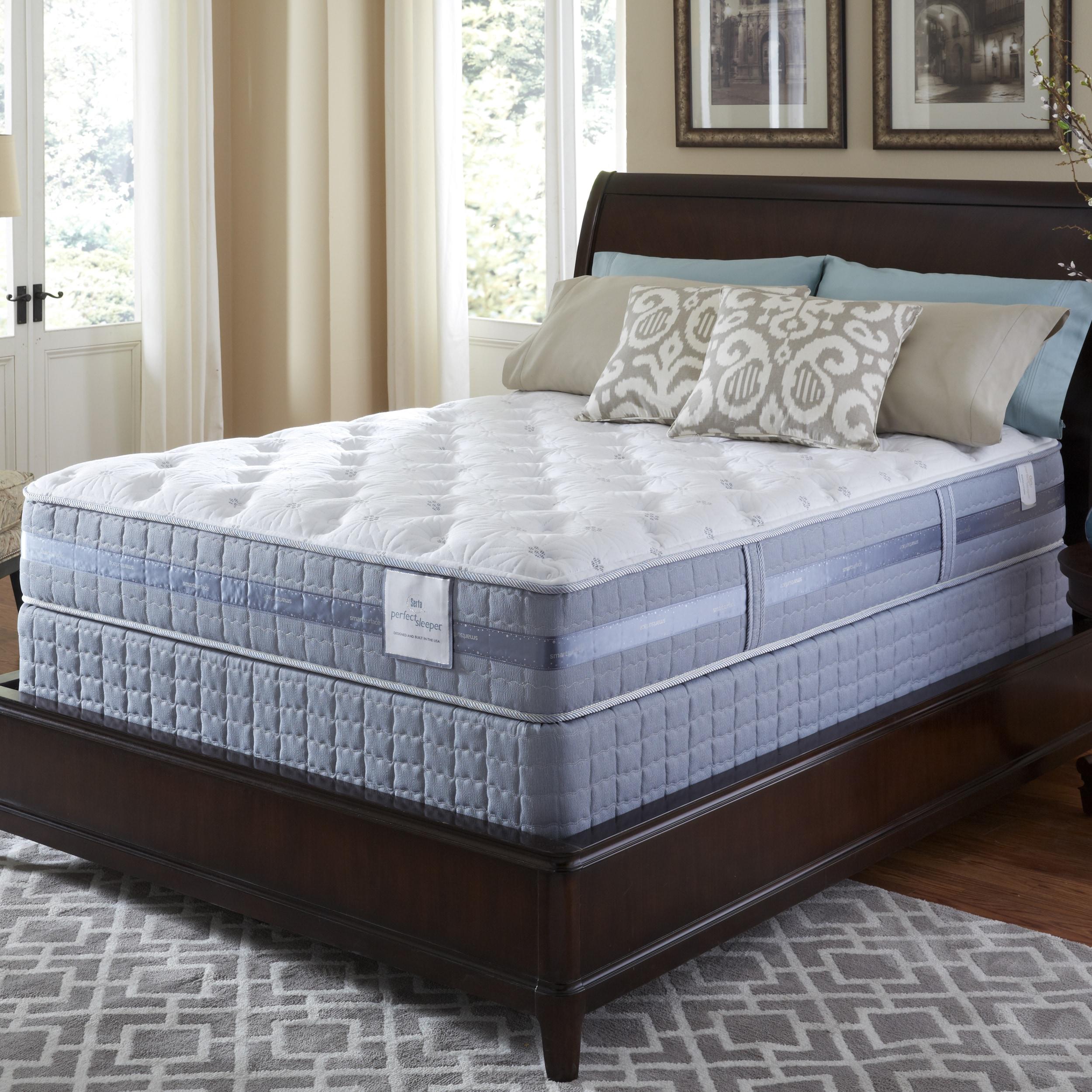 Serta Serta Perfect Sleeper Resolution Plush Cal King-size Mattress and Foundation Set