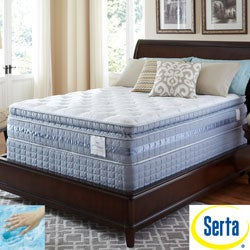 Serta Perfect Sleeper Majestic Retreat Super Pillowtop Twin XL-size Mattress and Foundation Set