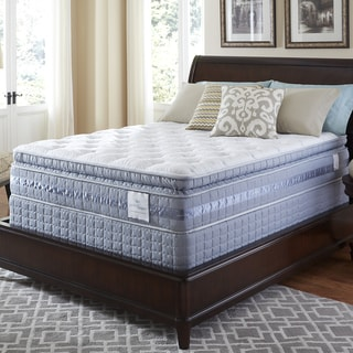 Serta Perfect Sleeper Majestic Retreat Super Pillowtop Split Queen-size Mattress and Foundation Set