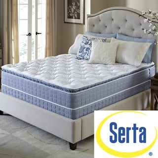 Serta Revival Pillowtop Split Queen-size Mattress and Foundation Set