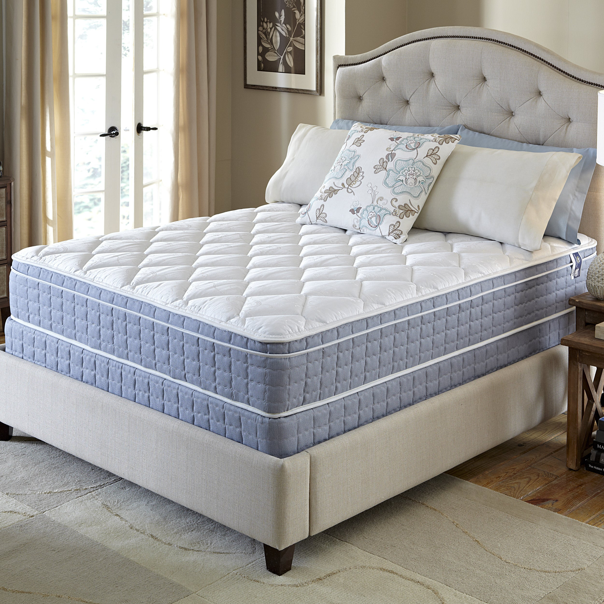 Serta Revival Euro Top Queen size Mattress and Foundation