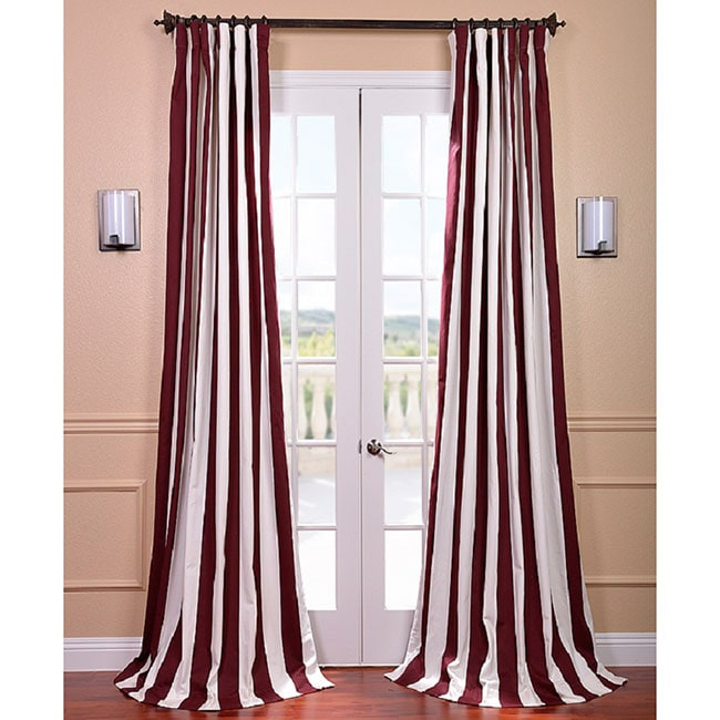 EFF Cabana Burgundy Stripe Cotton Curtain Panel at Sears.com