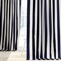 Cabana Navy Stripe Cotton Curtain Panel