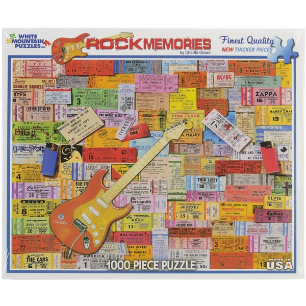 White Mountain Puzzles Rock Memories 1000 Piece Jigsaw
