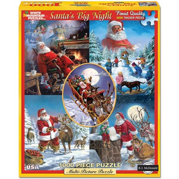 White Mountain Puzzles Santa's Big Night 1000 Piece Jigsaw Puzzle