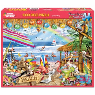White Mountain Puzzle Happy Hour Jigsaw Puzzle 1000 Piece