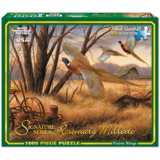 White Mountain Puzzles Prairie Wings 1000 Piece Jigsaw Puzzle