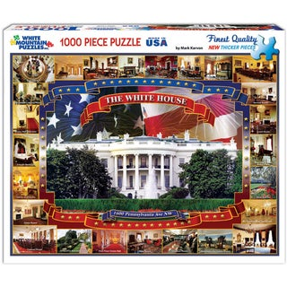 White Mountain Puzzles White House 1000 Piece Jigsaw Puzzle
