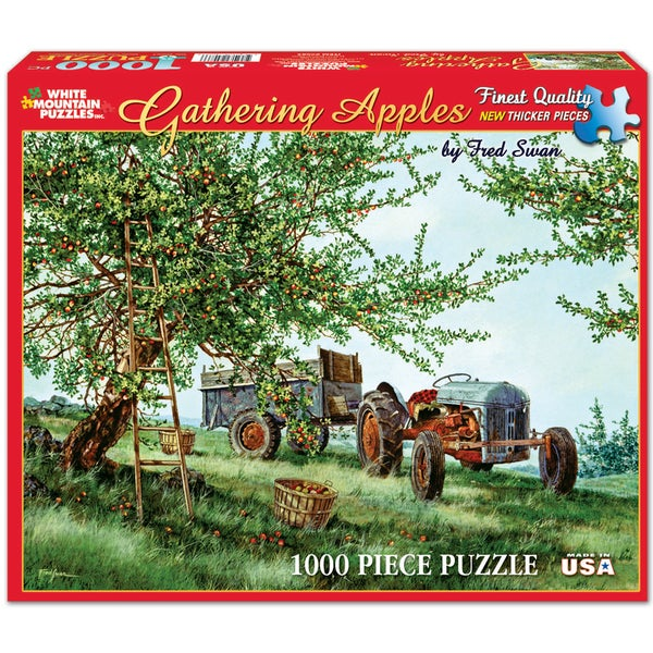 White Mountain Puzzles Fred Swan Gathering Apples 1000 Piece Jigsaw Puzzle