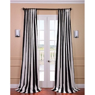 Cabana Black Stripe Cotton Curtain Panel