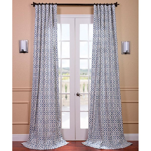 Nairobi Denim Printed Cotton Curtain Panel