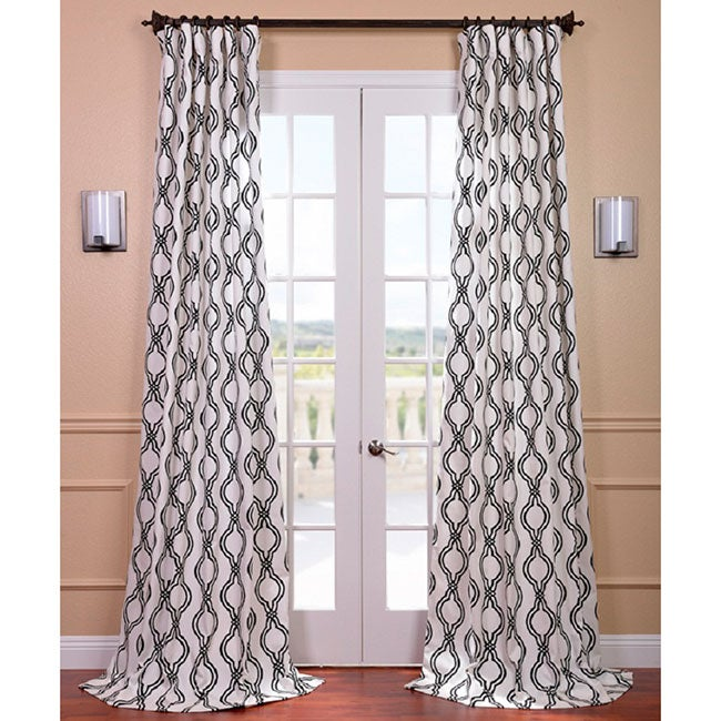 EFF Ogee Black Printed Cotton Curtain Panel at Sears.com