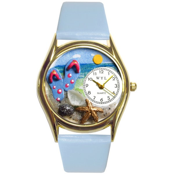 Flip-flops bay Blue Leather Watch
