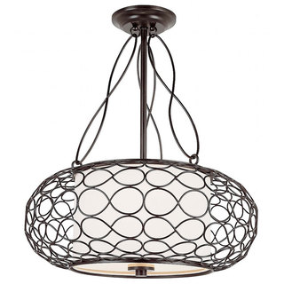 Trans Globe Lighting 18-Inch Bird Cage Pendant Light Fixture