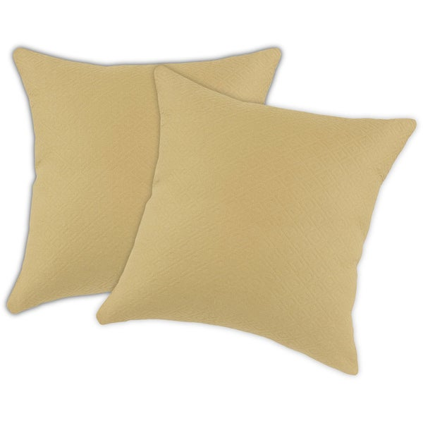 Palomino Beige 17-inch Accent Throw Pillows (Set of 2)