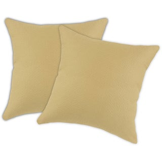 Palomino Beige 19-inch Accent Throw Pillows (Set of 2) (Refurbished)