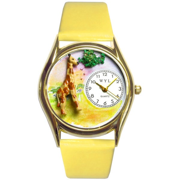 Giraffe Yellow Leather Watch