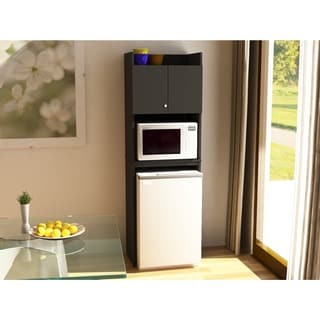Black Stipple Refrigerator Storage Cabinet