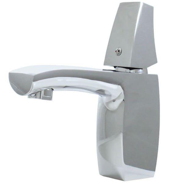 Stainless Steel Single-knob Chrome Finish Bathroom Faucet