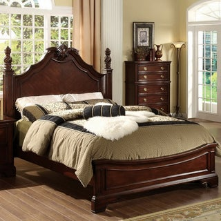 Furniture of America Ambrosio Formal Dark Cherry Bed