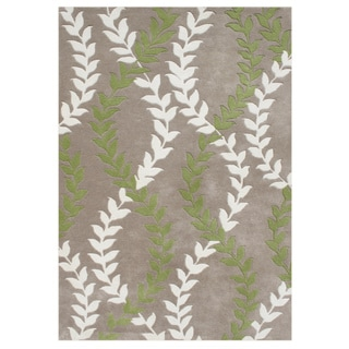 Hand-carved Alliyah Hand Made Warm Taupe Wool Blend Rug (8' x 10')