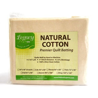 Legacy Twin-size Natural Cotton Batting without Scrim