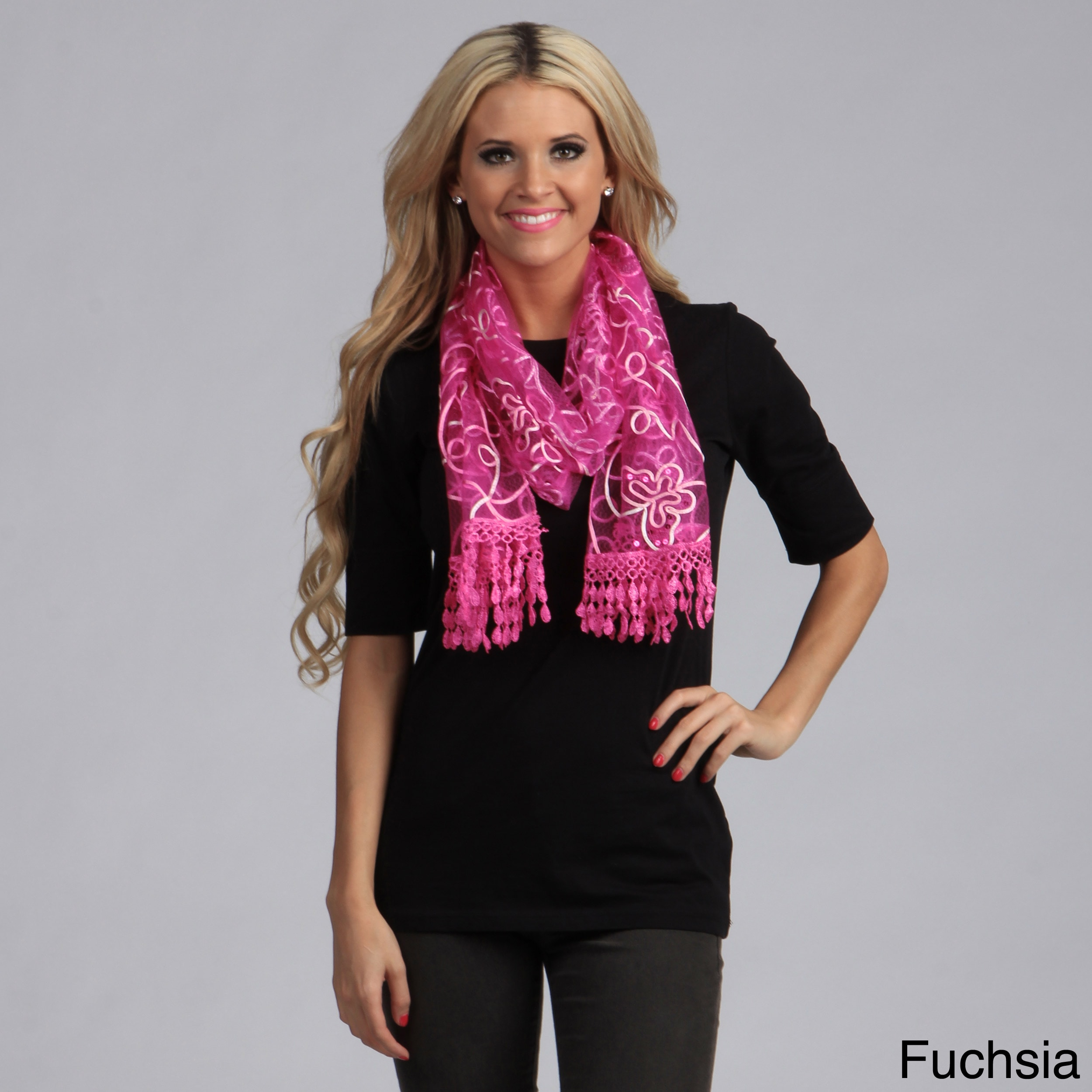 Cashmere Showroom Butterfly Lace Scarf