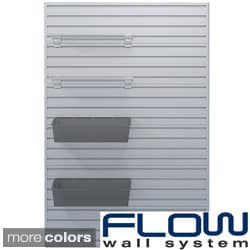 Flow Wall Shelf and Jumbo Hard Bin Set