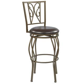 Cosmo Metal Grey Ash Frame Swivel 30-inch Bar Stool