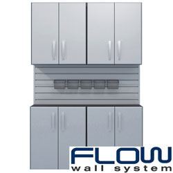 Flow Wall 4-cabinet Wall and Base Module Set