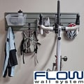 Flow Wall Silver/Clear Flow Anywhere Vertical Bike Starter Set