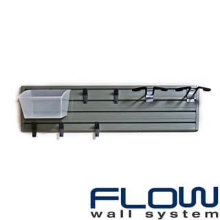 Flow Wall Silver/Clear Flow Ski Storage Set