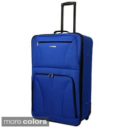 Rockland Fashion Colors 24-inch Expandable Rolling Upright Suitcase