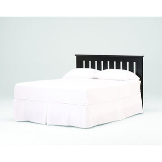 Black Slatted Twin-size Headboard