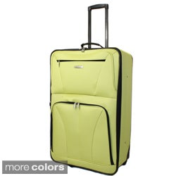 Rockland Fashion Colors 28-inch Expandable Rolling Upright Suitcase