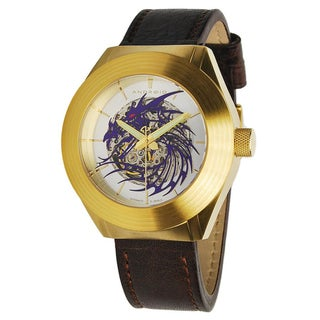 Android Men's Goldtone Tattooed Dragon Skeleton Automatic Watch
