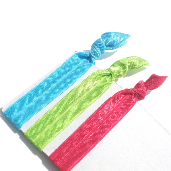 Boutique Multi-colored 3-piece Ponytail Hair Tie Set