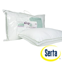 Serta Perfect Day 300 Thread Count Gusseted Stain Resistant Cotton Pillow (Set of 2)