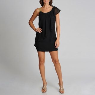 Betsy & Adam Women's Gold Hardware Embellished LBD