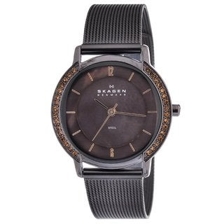Skagen Women's Crystal-accented Brown Dial Watch